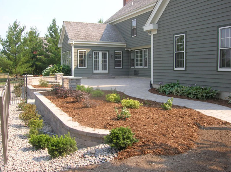 Tiered Garden, Fence, and Patio