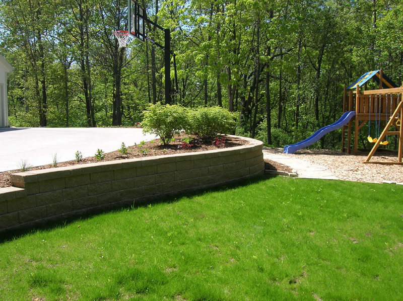 Raised Garden Lined with Stone