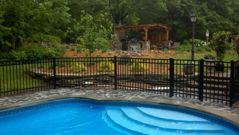 Pool Fence and Landscape