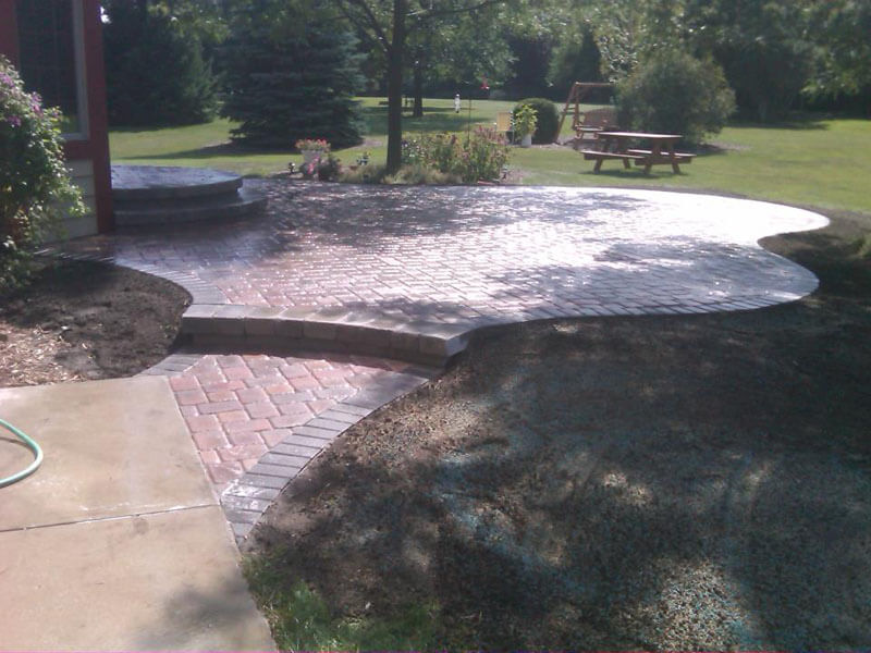 Residential Brick Patio