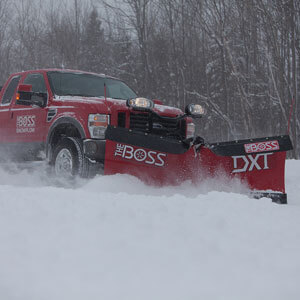 Red Truck with Snow Plow